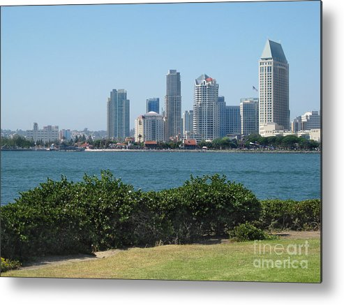 Architecture Metal Print featuring the photograph San Diego Viewed From Coronado Island by Claudia Ellis
