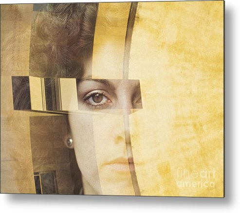Portrait Metal Print featuring the photograph Aletheia by Thomas Carroll