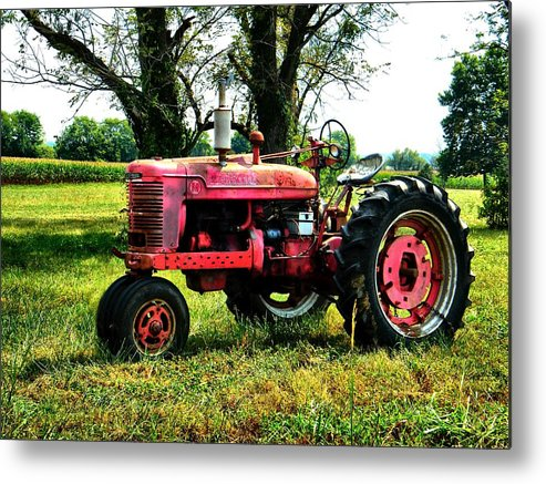 Antique Metal Print featuring the photograph Antique Tractor by Julie Dant