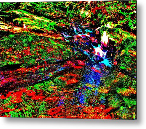 Landscape Metal Print featuring the photograph Brook Texture 17 by George Ramos