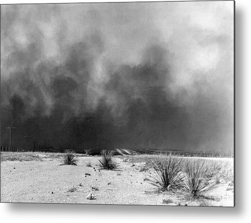 1936 Metal Print featuring the photograph Drought Dust Storm, 1936 by Granger