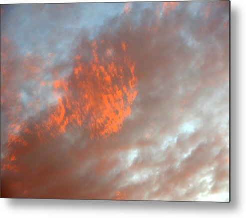 Color Metal Print featuring the photograph Fireball In The Sky by Jean Macaluso