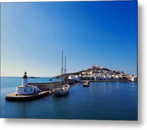 Harbor Metal Print featuring the photograph Harbor In Ibiza Town by Karol Kozlowski