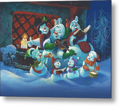 Michael Humphries Metal Print featuring the painting Joy To The World by Michael Humphries