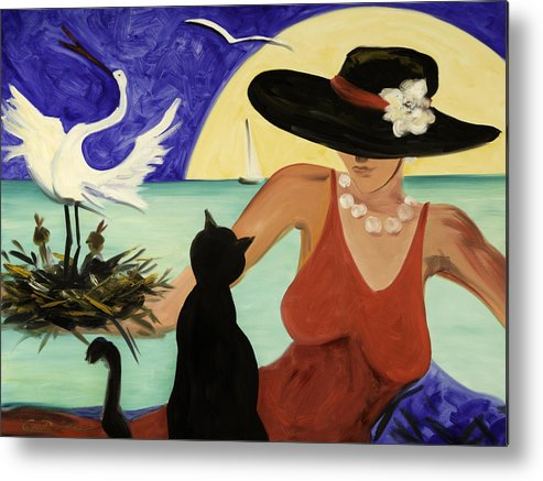 Colorful Art Metal Print featuring the painting Living The Dream by Gina De Gorna