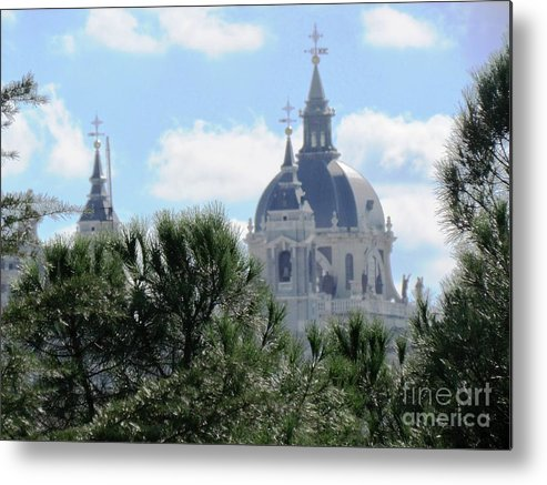Spain Metal Print featuring the photograph Madrid Skyline by Ted Pollard