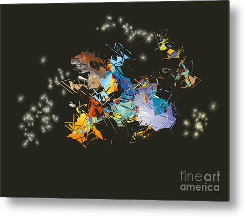 Metal Print featuring the digital art No. 920 by John Grieder