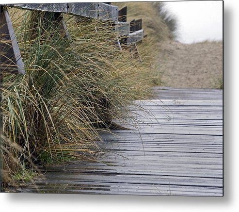 Beach Metal Print featuring the photograph Rainy Day by Inge Riis McDonald