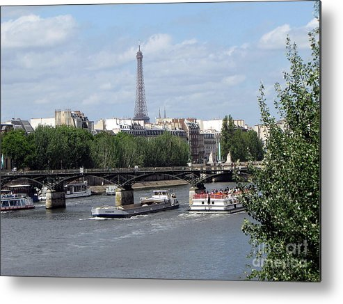 Paris Metal Print featuring the photograph She Stay by Yury Bashkin