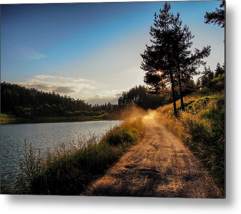 Sunset Metal Print featuring the photograph Sunset On The Lake by Milan Cernak