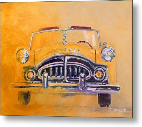 Transportation Metal Print featuring the painting 1951 Packard Clipper by Ron Patterson
