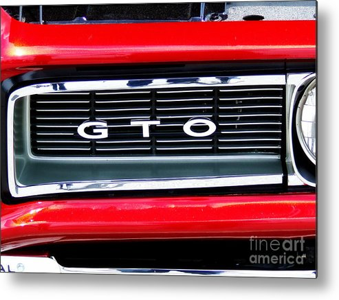 Muscle Car Metal Print featuring the photograph 1969 Gto Grill by Scott B Bennett