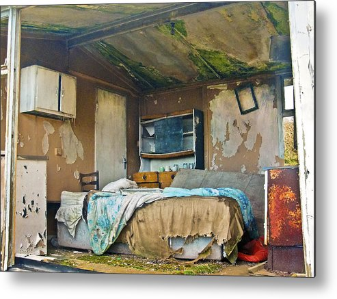 Abandoned Metal Print featuring the photograph Where Do They Sleep Now by Tony Reddington