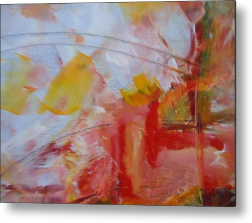 Abstract Metal Print featuring the painting Abstract Exhibit by Lord Frederick Lyle Morris - Disabled Veteran