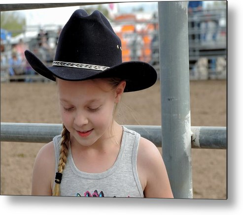 Cowgirl Metal Print featuring the photograph Tadah by Marit Runyon