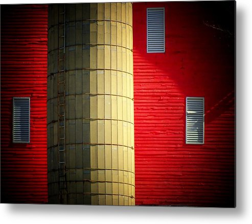 Barn Metal Print featuring the photograph Silo by Michael L Kimble