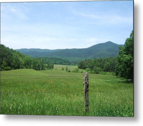 Landscape Metal Print featuring the photograph The Smokey Mtn. by Inspire Awe-Photography