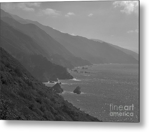 Print Metal Print featuring the photograph 573 Bw Big Sur Coast 3 by Chris Berry