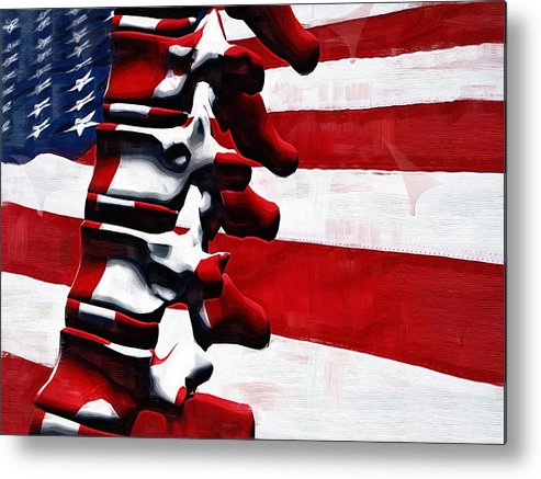 Thoracic Spine Metal Print featuring the digital art Thoracic Spine by Joseph Ventura