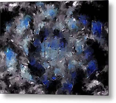 Canvas Metal Print featuring the digital art Visual by HollyWood Creation By linda zanini