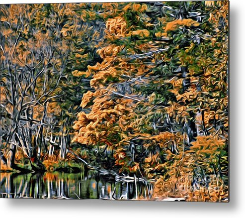 Fall Metal Print featuring the photograph 9380 by Charles Cunningham