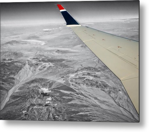 Clouds Metal Print featuring the photograph Above The Clouds Wing Tip View Sc by Thomas Woolworth
