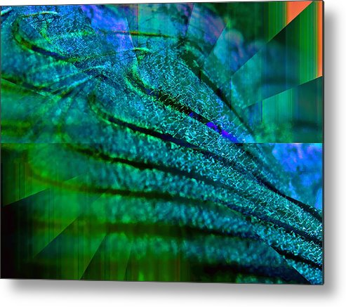 Digital Metal Print featuring the digital art Absolute Blue by Michael Durst