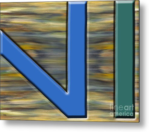 Abstract Metal Print featuring the painting Abstract 210 by Patrick J Murphy