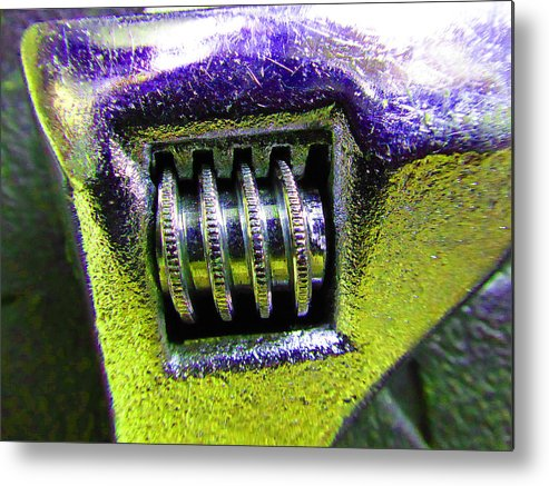 Hammer Metal Print featuring the photograph Adjustable Wrench B by Laurie Tsemak