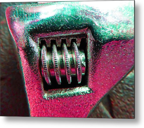Hammer Metal Print featuring the photograph Adjustable Wrench D by Laurie Tsemak