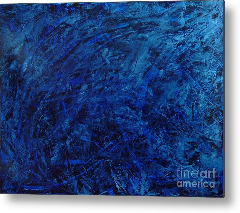 Abstract Metal Print featuring the painting Alans Call by Dean Triolo
