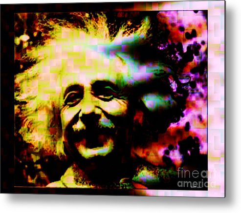 Fractal Art Metal Print featuring the digital art Albert Einstein - Why Is It That Nobody Understands Me - Yet Everybody Likes Me by Elizabeth McTaggart