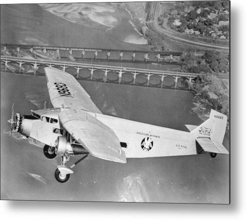 American Airlines Metal Print featuring the photograph American Airlines Tri-motor by Henri Bersoux
