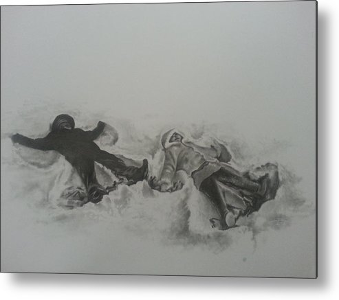 Winter Metal Print featuring the drawing Angels by James Rodgers