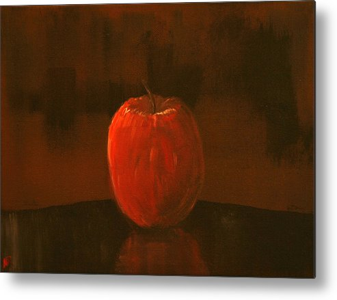 Apple Metal Print featuring the painting Apple by Nick Robinson