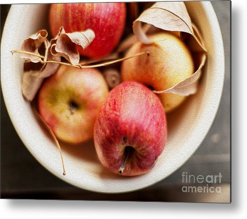 Apples Metal Print featuring the photograph Apples by Rebecca Cozart