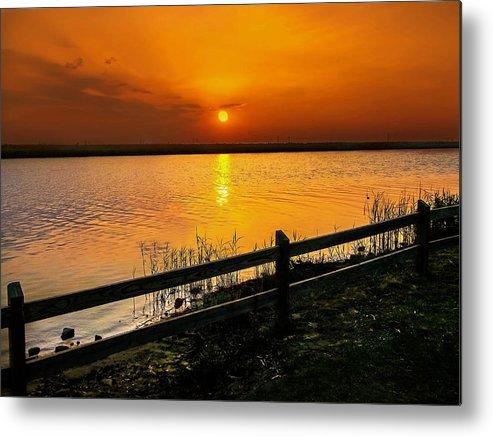 Sunset Metal Print featuring the photograph April Sunset by Mechala Matthews