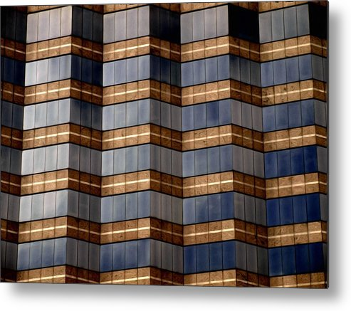 Abstract Metal Print featuring the photograph Architecture 2 by Tom Druin