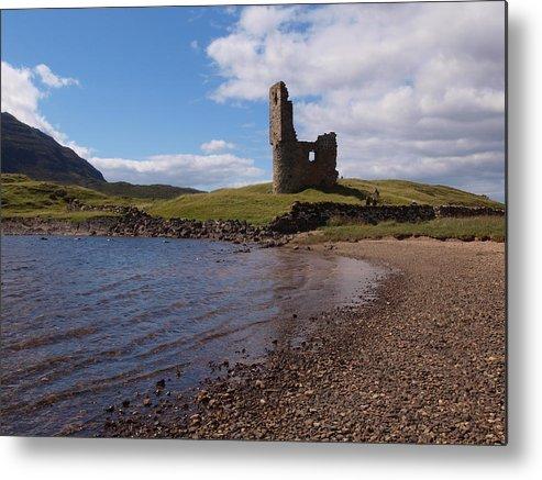 Ardvreck Castle Metal Print featuring the photograph Ardvreck Castle Scotland by Michaela Perryman