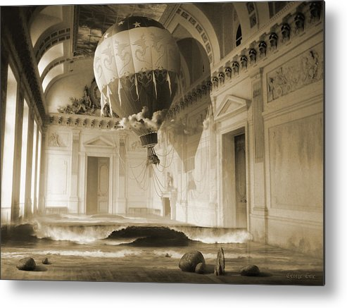 Balloon Metal Print featuring the digital art Arrested Expansion Or Cardiac Arrest by George Grie