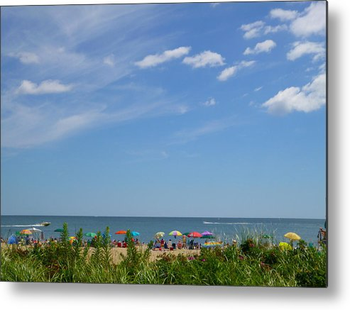 Summer Metal Print featuring the photograph At The Beach 2 by Ellen Paull