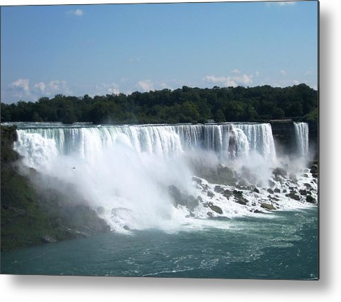 Waterfall Metal Print featuring the photograph Awesome by Dervent Wiltshire