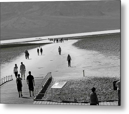 Death Valley Metal Print featuring the photograph Badwater by Barbara Gross