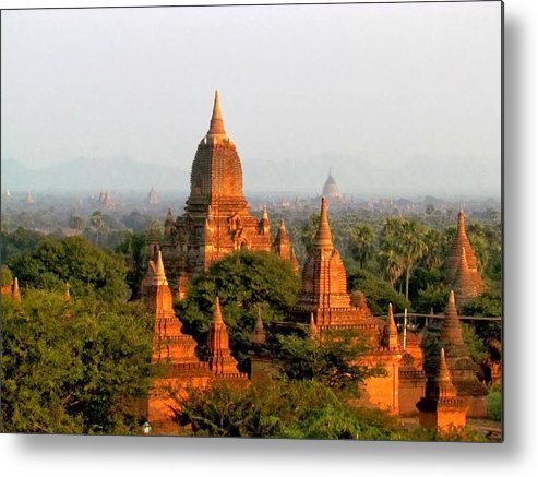 Myanmar Metal Print featuring the photograph Bagan Temples by Joseph Mason