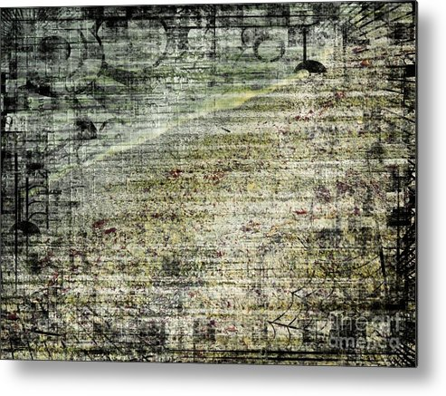 Abstract Metal Print featuring the photograph Beach by Gabriela Insuratelu