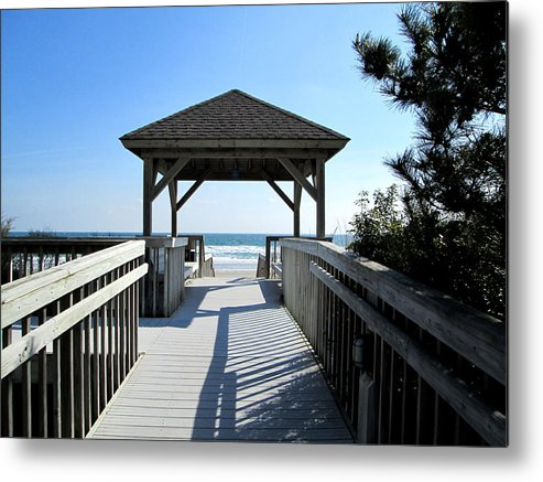 Beach Metal Print featuring the photograph Beach Walk by Silvie Kendall