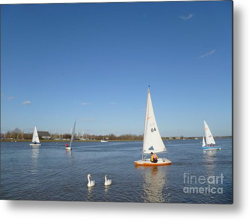 Beautiful Metal Print featuring the photograph Beautiful Blue Sky by Vicki Spindler