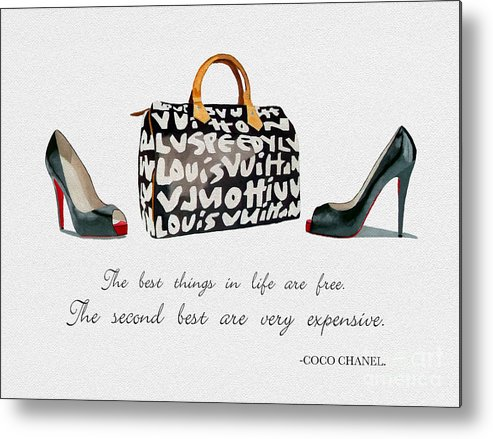 Christian Louboutin Metal Print featuring the mixed media Best Things In Life 2 by My Inspiration