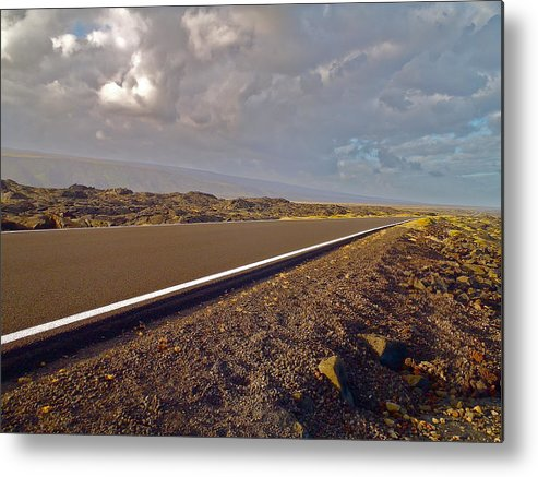 Hawaii Metal Print featuring the photograph Big Island Road by Rob Michels