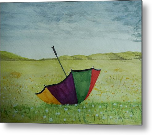 Sky Metal Print featuring the painting Blown Away by Betty-Anne McDonald